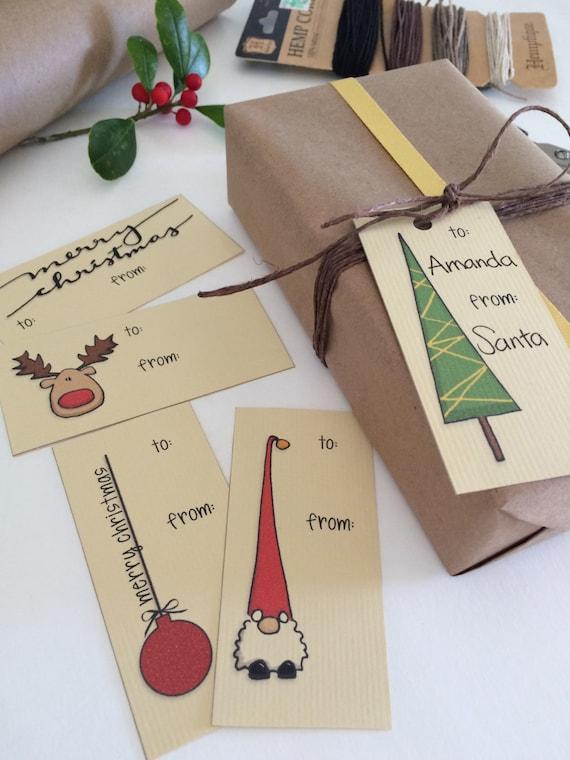 Hand drawn Christmas gift tag set half price printable gift tag set christmas tags printable instant digital download