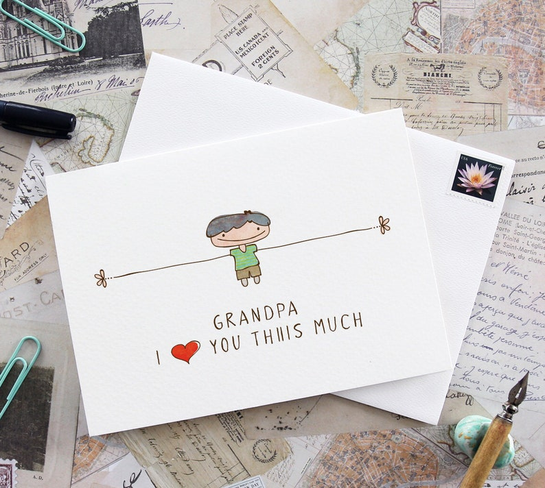 Printable card for Grandpa Grandpa card I love you grandpa image 0