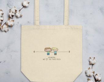 Personalized Gift for Grandma, Grandma I love you tote bag, gift from grandchildren, gift for Grandma