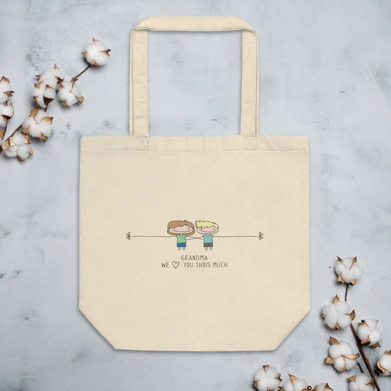 Personalized Gift for Grandma Grandma I love you tote bag custom