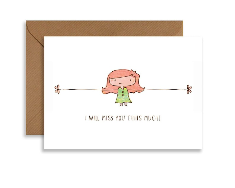 greeting cards farewell card for coworker goodbye card  etsy