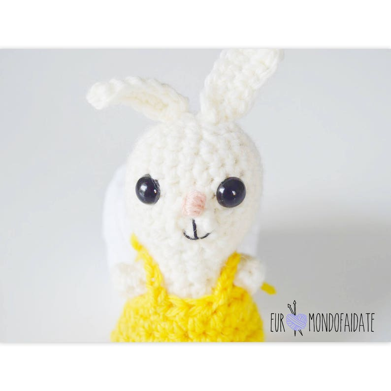 Amigurumi Coniglio Coniglietto Bianco Amigurumi Portachiavi Etsy