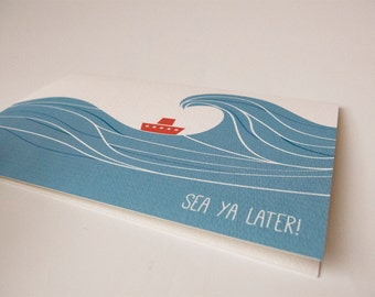 Sea Ya Later Farewell Card