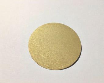 Gold Circle Tags