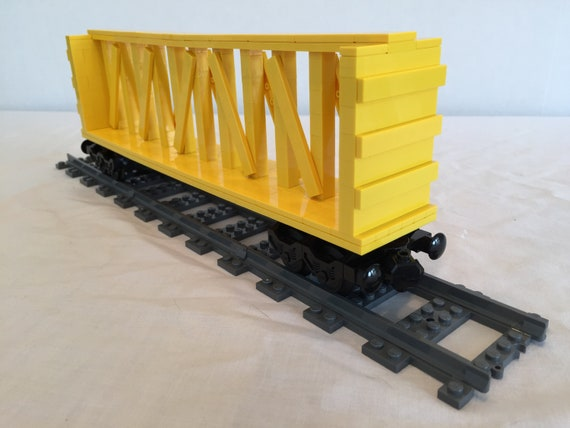 Lego Train Centerbeam Flat Car Instructions Only Etsy