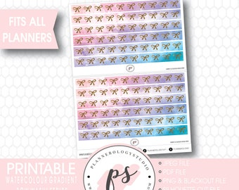 Christmas Plaid Bow Icon Washi Strip Digital Printable Planner Stickers JPGPDFFree Cut FileBlackout File
