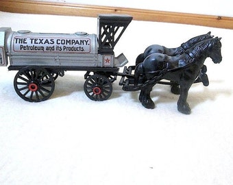 1991 ERTL Texaco Horse and Tanker Bank #8 NIOB ~ Texaco Collectibles ~ Gas Station Giveaway ~ Die Cast Coin Bank ~ Texaco Coin Bank
