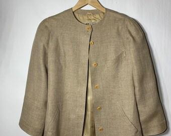 90a08cfec Gucci vintage womens 100% linen lined blazer jacket g.gucci khakis colored