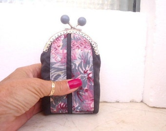 Coin purse, Clasp purse, Cigarette purse, Handmade fabric purse, Privacy pouch, Card holder, T bag pouch, first aid purse, Smokers gift