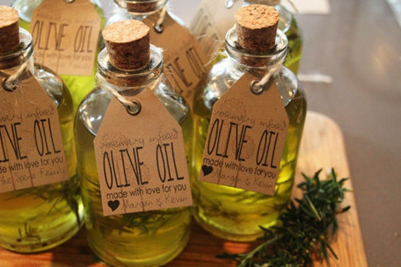 70 Organic Rosemary Olive Oil Favors Infused Greek Olive Oil | Etsy