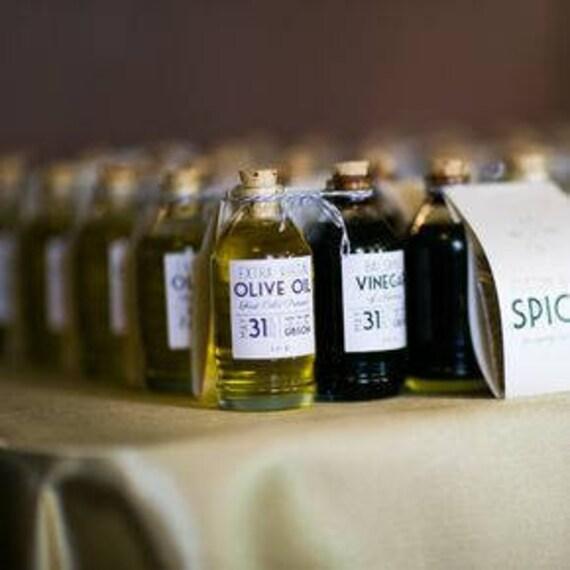 FREE SHIPPING 75 Sets Olive Oil & Balsamic Vinegar Favors | Etsy