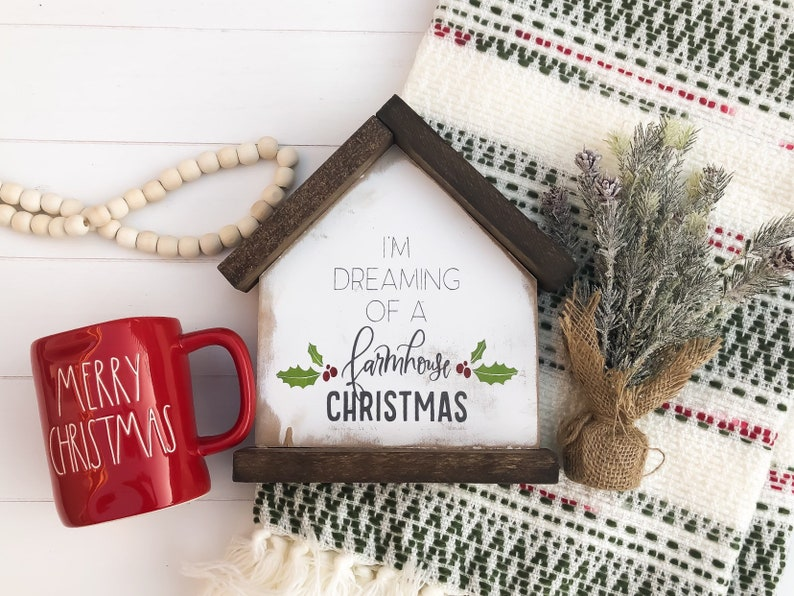 Christmas Decor  Wood Sign  I'm Dreaming of a image 0