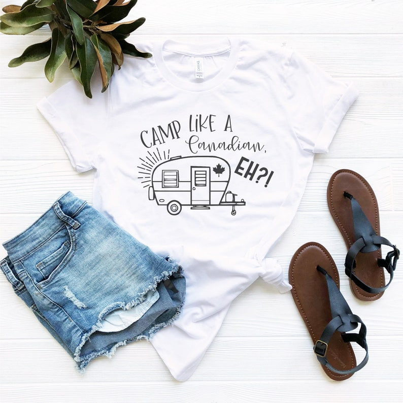 Camp Like A Candian Eh Unisex T-Shirt White