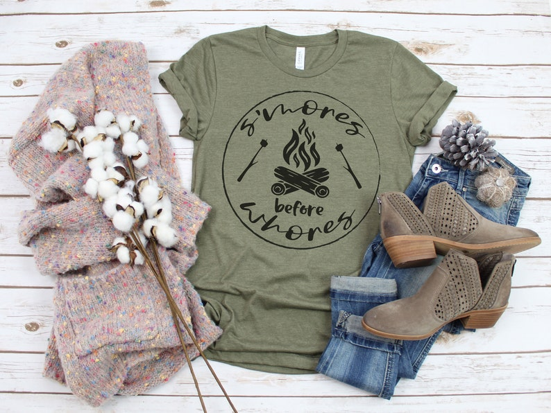 Camping  S'mores before Whores Unisex T-Shirt image 0