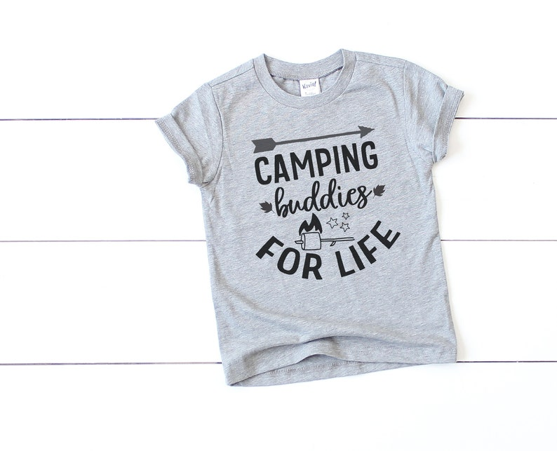 Camping Buddies for Life . Baby Toddler & Youth T-Shirt image 0