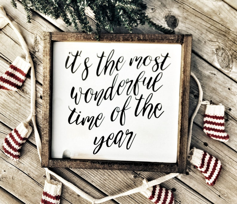 Christmas Decor  Wood Sign  It's the Most image 0