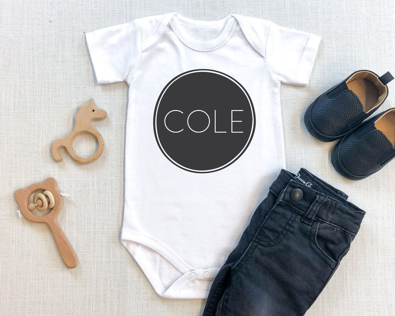 Personalized Baby Name Bodysuit image 0
