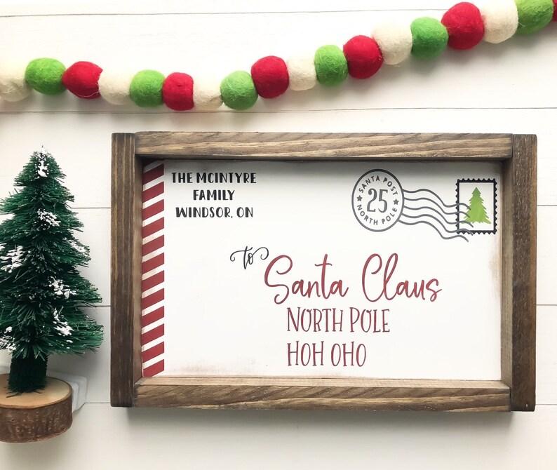 Christmas Decor  Wood Sign  Letter to Santa image 0