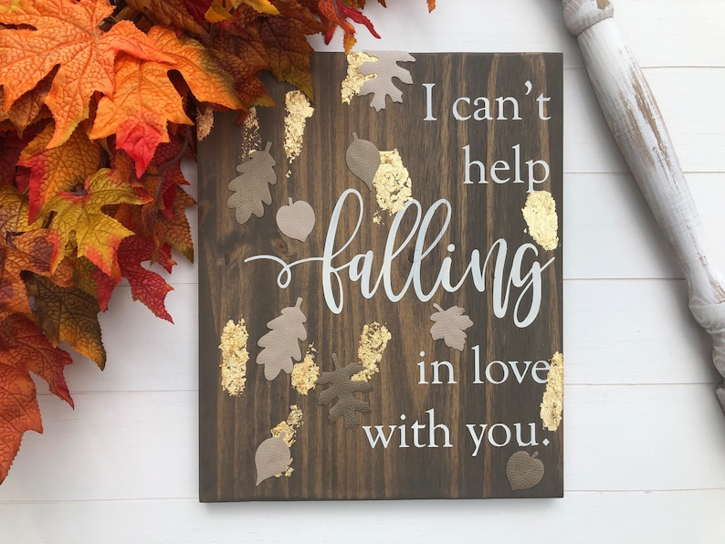 Autumn Sign  Fall Decor  I Can't Help image 0