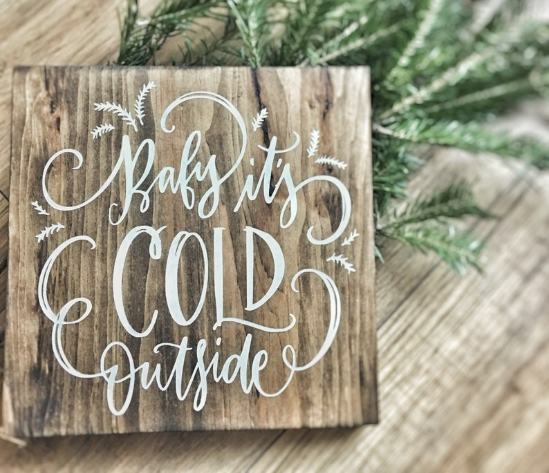 Christmas Decor  Wood Sign  Wall Hanging  Baby image 0
