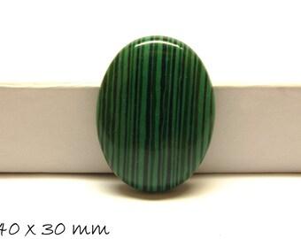 10 pcs Ø 8 mm Pierre Malachite Perles-Vert avec Rayures Motif