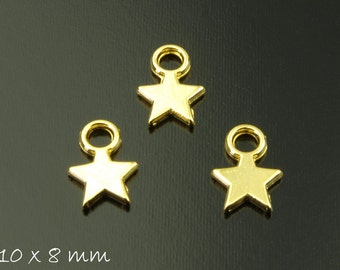 10 followers stamp plates gold star 10 x 8 mm