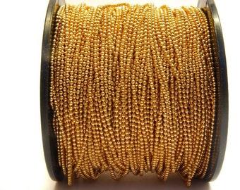 0,96EUR/Meter - 5 m ball chain gold, fine, 1.5 mm balls