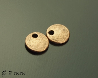 10 followers stamp plates Ø 8 mm copper