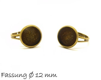 Ring blanks 17 mm bronze with 12 mm cabochon version