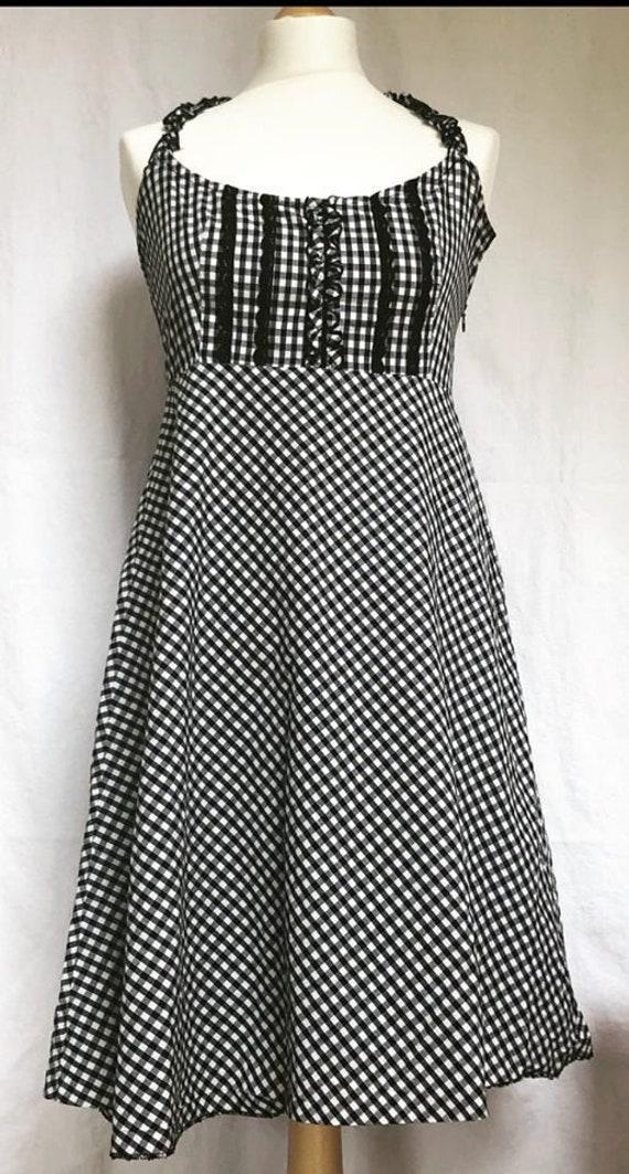 1950's Gingham Halter Dress