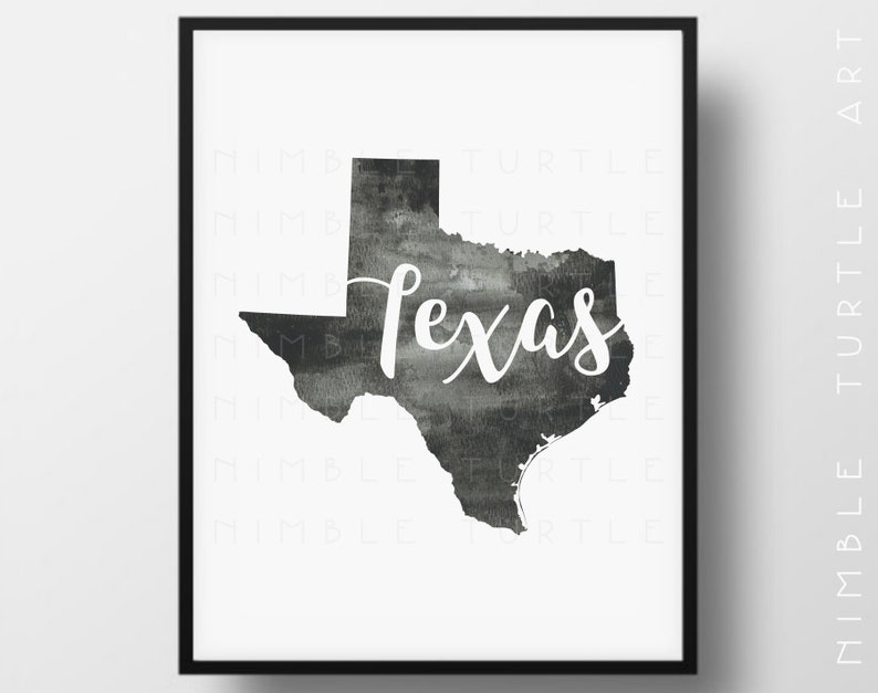 photo regarding Texas Outline Printable identify Texas Region Determine Watercolor - Printable Texas Wall Artwork - Will come with Blank Place Define SVG - Gallery Wall Artwork