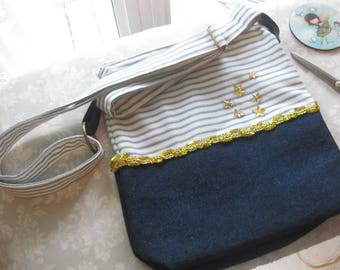 Pretty sailor style shoulder bag / / holiday bag / / layering / /.