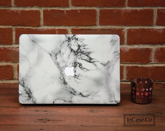 White Marble Macbook Air Case, MacBook Pro 13 inch and 15 inch, MacBook Pro Non Retina, MacBook 12 inch. Available in all sizes