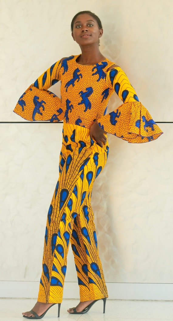Jumpsuit African Women S Dress Suit African Clothing Etsy