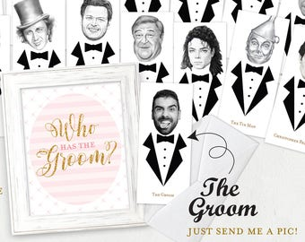Who Has The Groom Game, Bridal Shower Sign, Bridal Shower, Bachelorette Party, Hen Party, Printable, Printable Sign, Instant Download