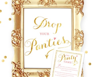 Panty Game Bridal Shower, Drop Your Panties Bridal Shower Games, Shower Game, Bridal Shower Games, Instant Download, Bachelorette Game