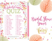 celebrity couples bridal shower games printable bridal shower game instant download printable games bridal printable instant download