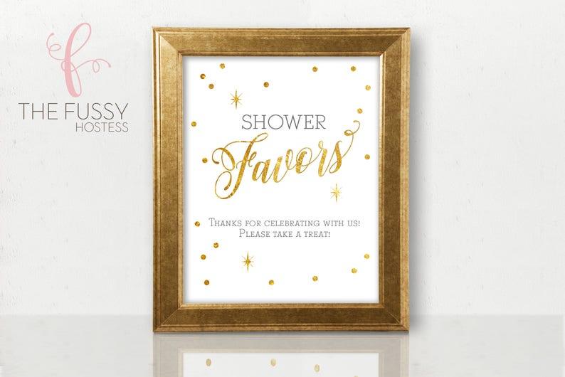 Favor Table Sign Baby Shower Favor Sign Bridal Shower Favor Etsy