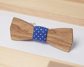 Wooden Bowtie, Bachelor Bow Tie, Groomsmen Gift, Suit Bow Tie, Mens Bowtie, Wood Bow Tie,  Blue Bowtie, Wedding Bow Tie, Fathers Day Gift