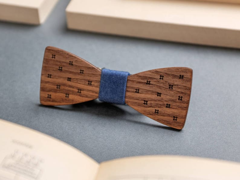 Bowties For Men Wood Bow Tie Wedding Party Gift Father Etsy