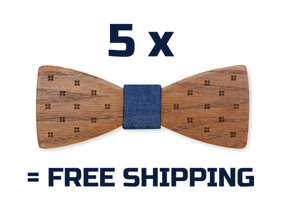 18c4093b3d12 Wooden Bow Tie Set Of 5 Mens Bowtie Wedding Bow Tie Mens | Etsy