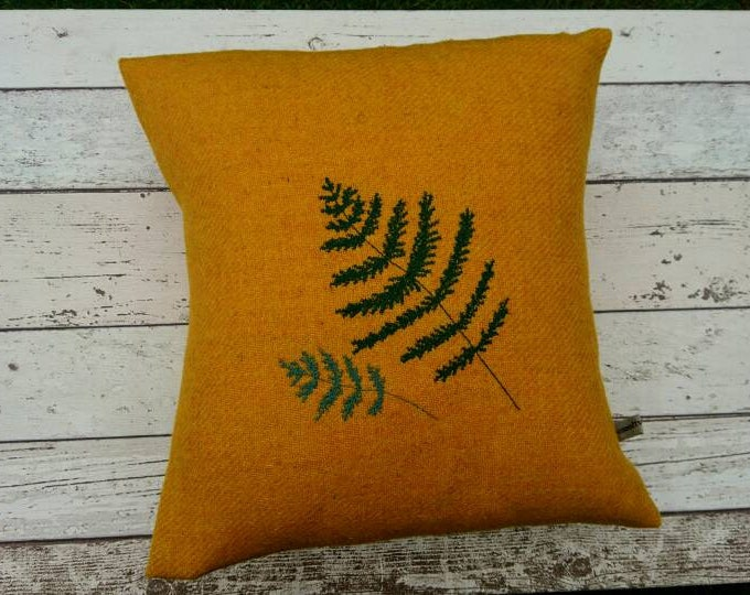 Hand Crafted Harris Tweed fern cushion cover