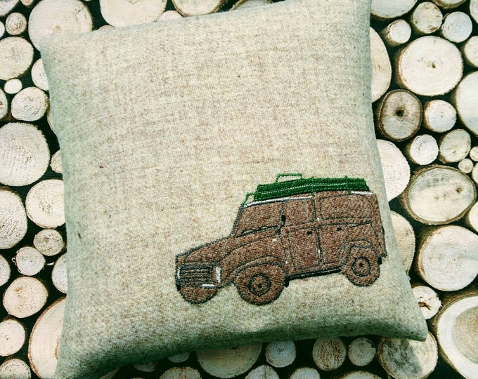 Hand Crafted Harris Tweed land rover cushion cover