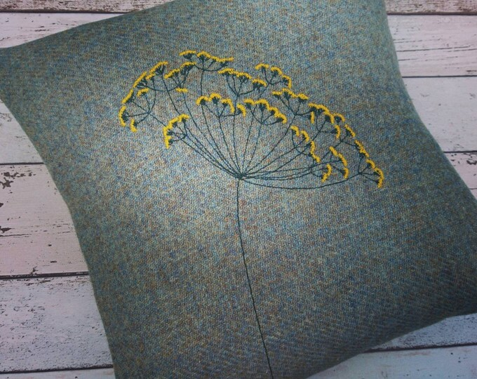 Hand Crafted Harris Tweed summer cushion cover