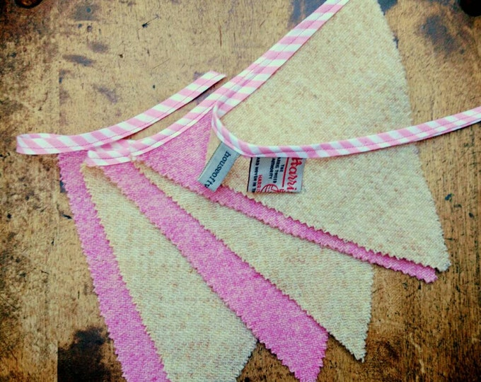 SALE Hand made Harris Tweed Bunting