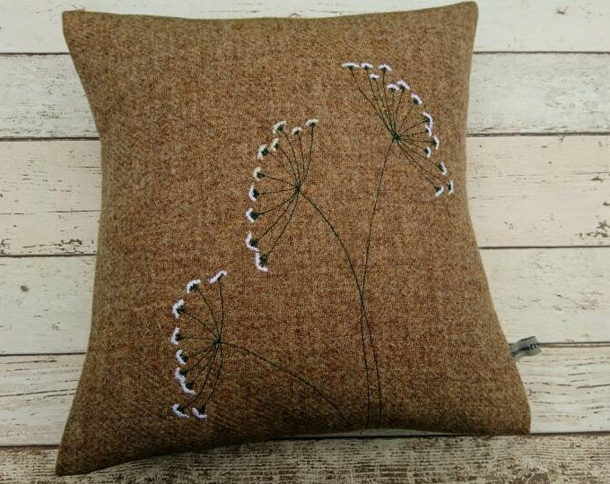 SOLD OUT Hand Crafted Harris Tweed summer cushion coming back soon