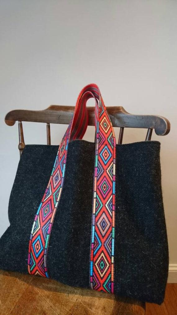 SALE Hand Crafted Harris Tweed tote bag