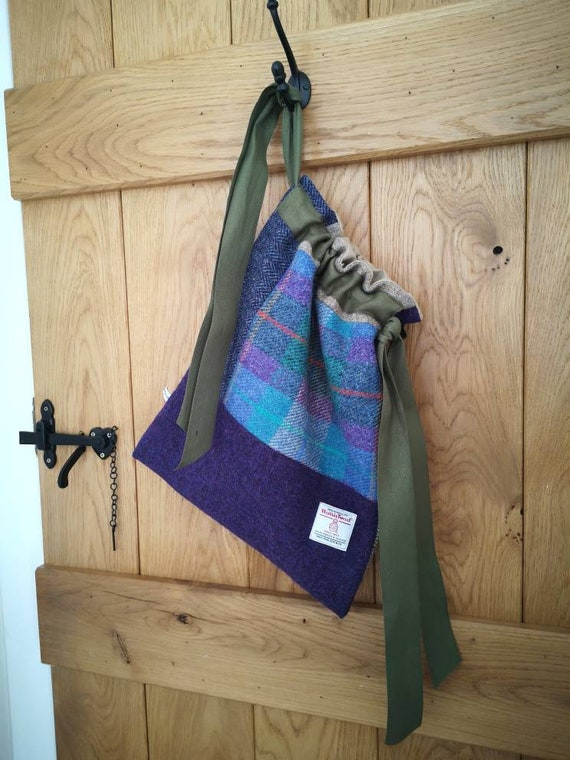 NEW Hand Crafted Harris Tweed storage solution, laundry bag
