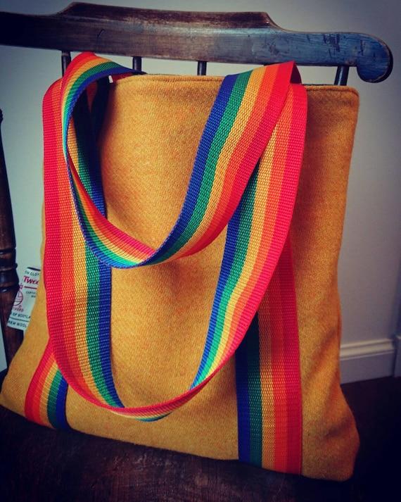 NEW Hand Crafted Harris Tweed tote bag