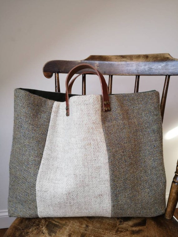 NEW Hand Crafted Harris Tweed tote bag
